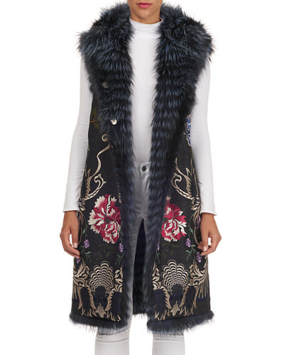 Reversible Layered Fox-Fur Vest