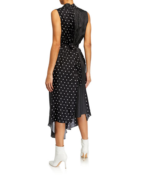 Image 2 of 2: Adam Lippes Asymmetric Polka-Dotted Dress