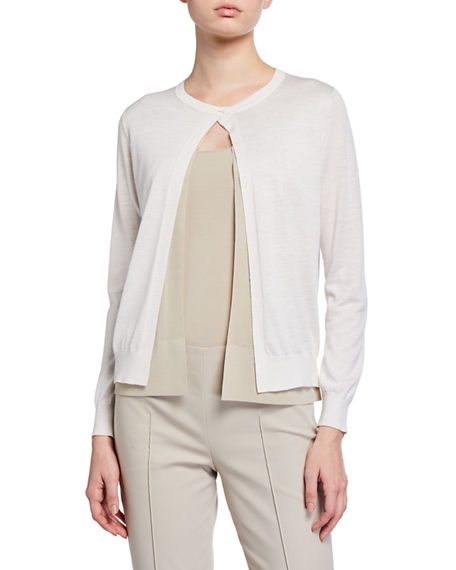 Akris Silk-Linen Double Cardigan
