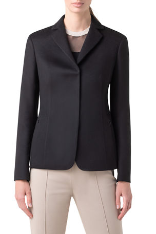Akris Notch-Collar Cashmere Jacket