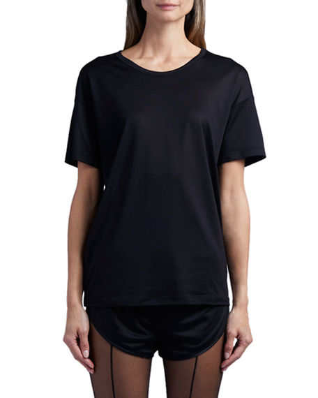 TOM FORD Rolled-Sleeve Jersey T-shirt With Logo At Back