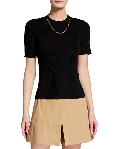 Image 1 of 3: Givenchy Chain-Trim Knit Top