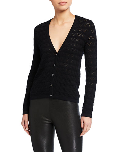 Maison Ullens Crocheted Cotton-Cashmere Cardigan