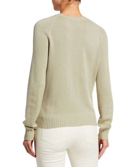 Image 2 of 2: Loro Piana Baby Cashmere Asymmetric Cable-Knit Sweater