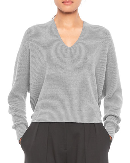 Emporio Armani V-Neck Cashmere-Blend Sweater
