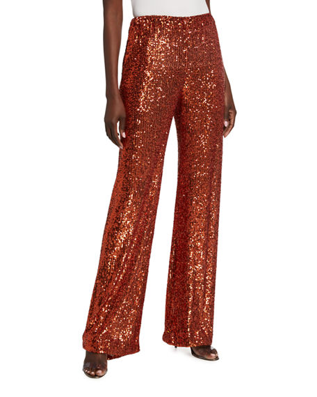 Naeem Khan Sequin Pajama Pants