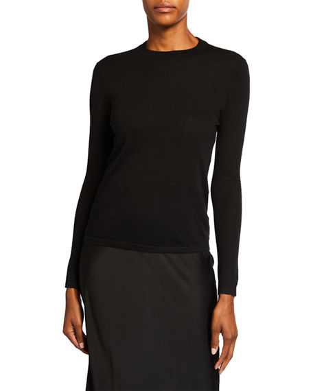 Co Crewneck Fitted Cashmere Knit Sweater