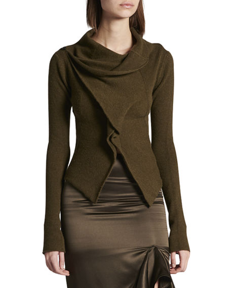 TOM FORD Cashmere Crisscross-Front Cardigan