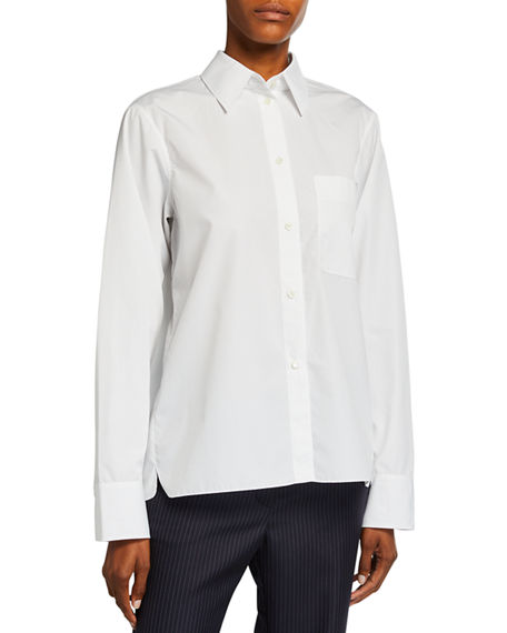 Nina Ricci Button Down Draped Back Top