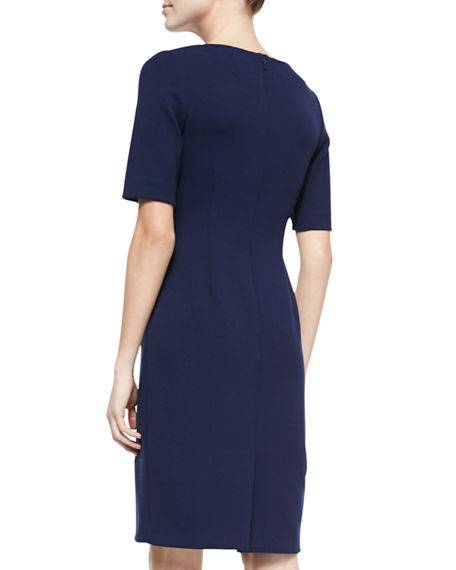 Image 2 of 2: Lela Rose Claire Boat-Neck Dress