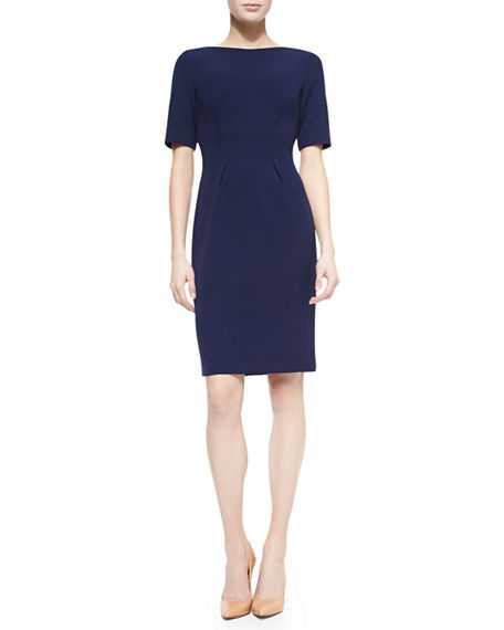 Image 1 of 2: Lela Rose Claire Boat-Neck Dress