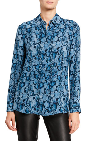 Altuzarra Silk Collar Top