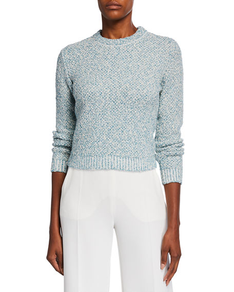 Maison Ullens Cropped Tweed Sweater