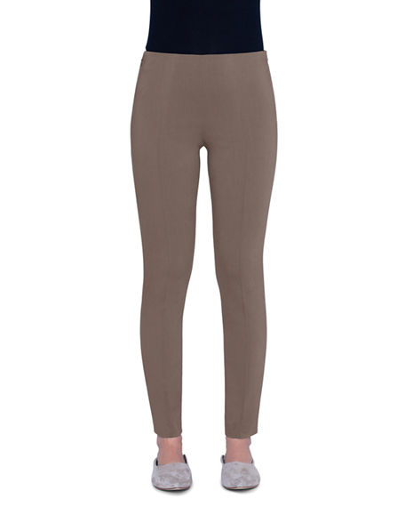 Image 1 of 3: Akris Melissa Techno-Stretch Slim-Leg Pants