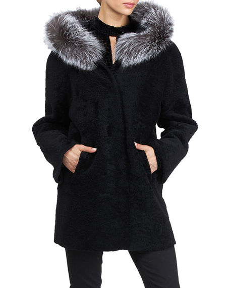 Image 1 of 4: Gorski Reversible Shearling Lamb Jacket