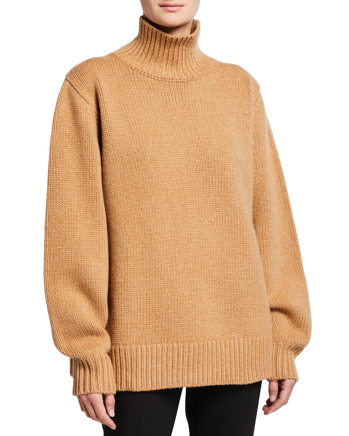 The Row MILIANA WOOL-CASHMERE TURTLENECK SWEATER