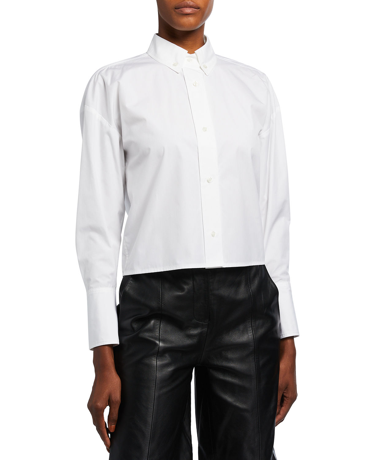 Pulau Cropped Button-Front Shirt