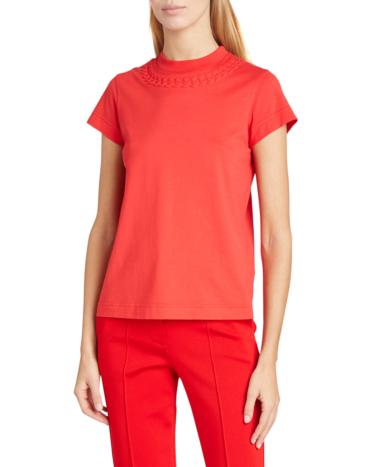 Givenchy Cottons FITTED CHAIN-NECK SHORT-SLEEVE TEE