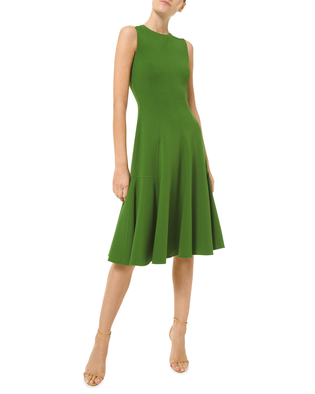 Michael Kors FIT-&-FLARE WOOL-BLEND DRESS