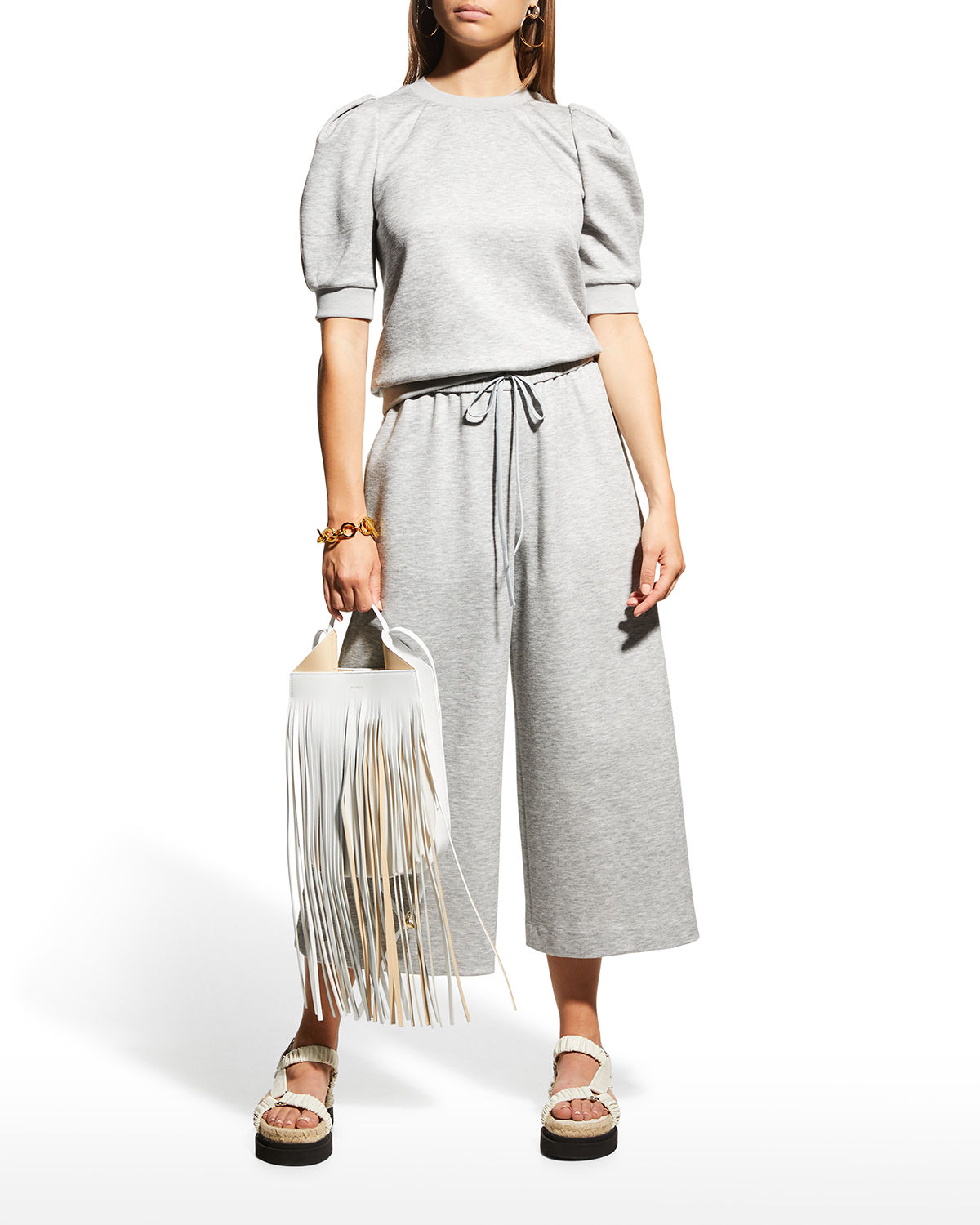 Luxe Jersey Wide-Leg Culottes