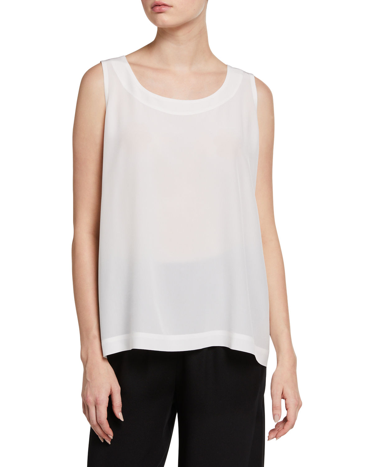 Round-Neck A-Line Shell