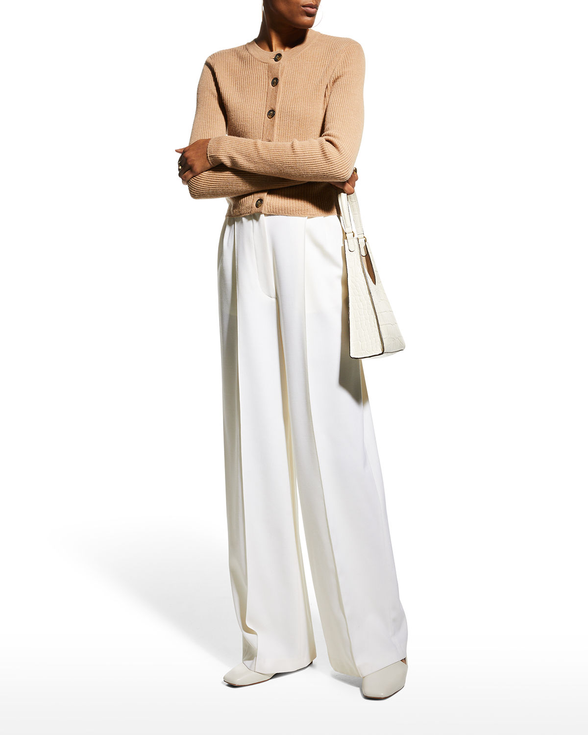 Contoy Cropped Ribbed Cardigan