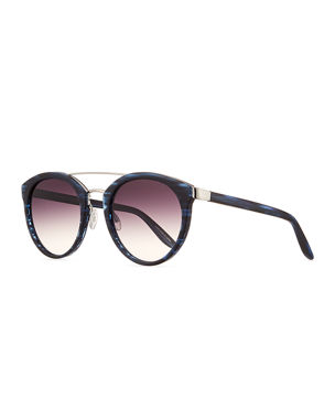 7084127f0fd Barton Perreira Dalziel Round Sunglasses with Metal Bar