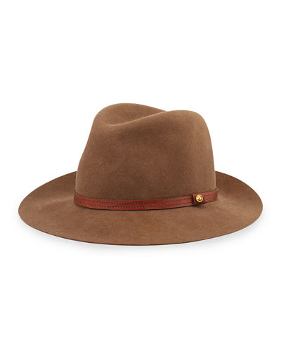 Floppy Brim Wool Fedora Hat
