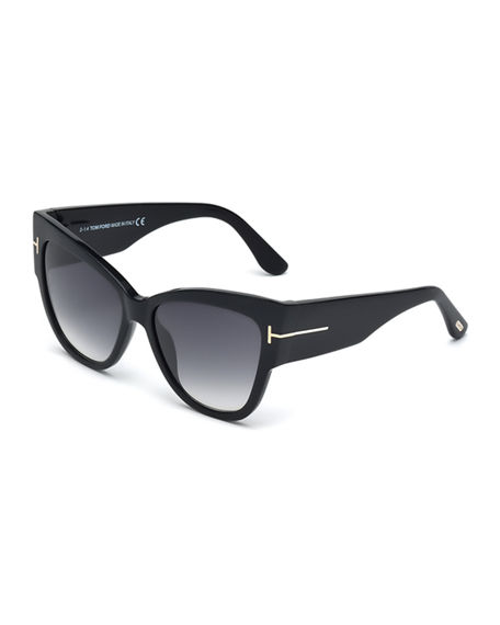 TOM FORD Anoushka Butterfly Sunglasses, Black