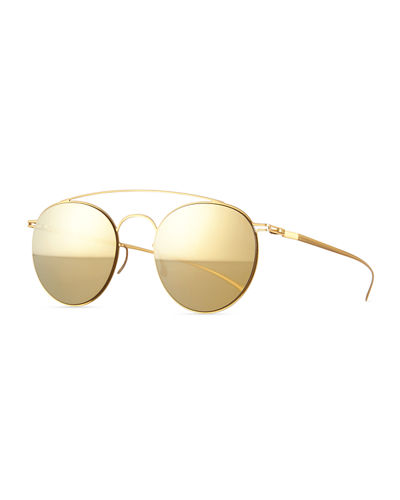 MYKITA + Maison Margiela Round Stainless Steel Double-Bridge