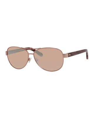 Image 1 of 2: dalia aviator sunglasses