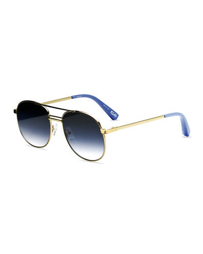 Elizabeth and James Watts Aviator Metal Sunglasses