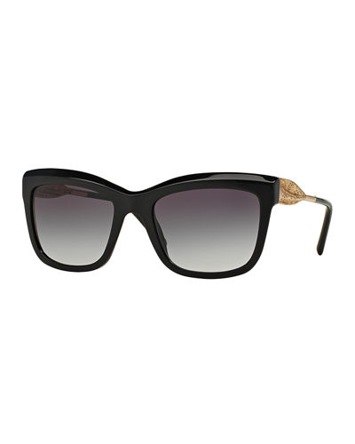 Burberry Cat-Eye Lace Sunglasses