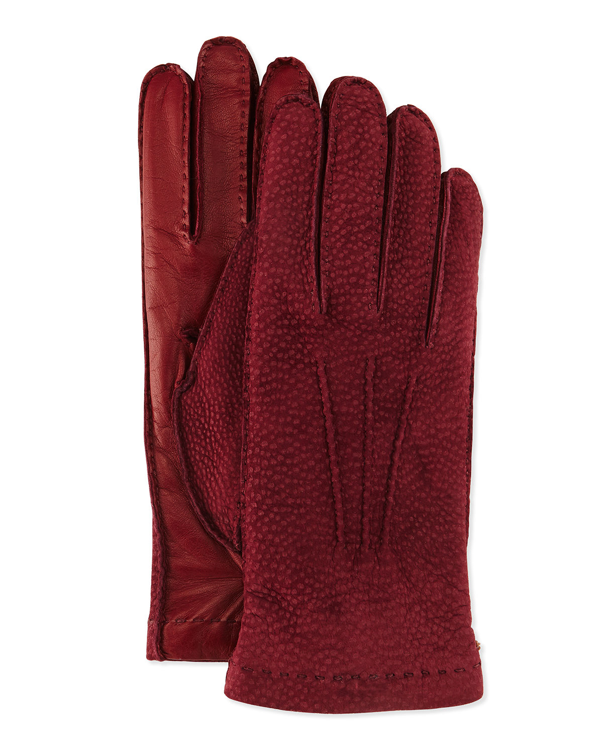Cashmere-Lined Capybara Leather Gloves