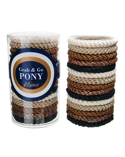 Grab & Go Pony Ponytail Holders in Tube
