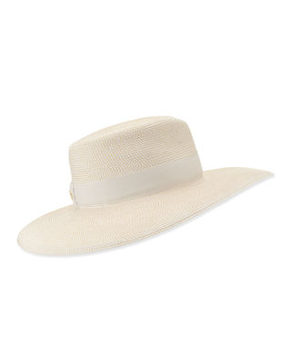 Daphne Woven Boater Hat