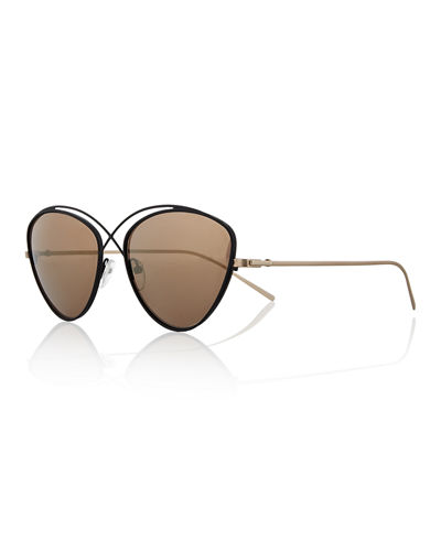 Prism Brooklyn Metal Cat-Eye Sunglasses