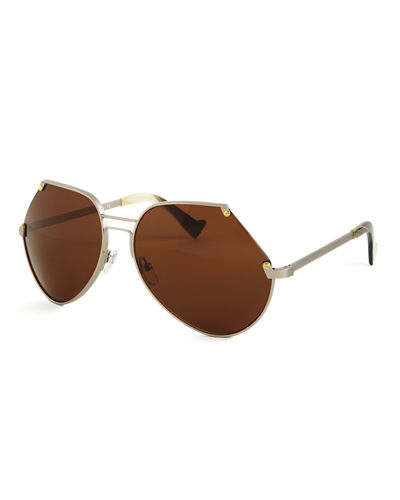 Grey Ant Embassy Cutoff Metal Sunglasses