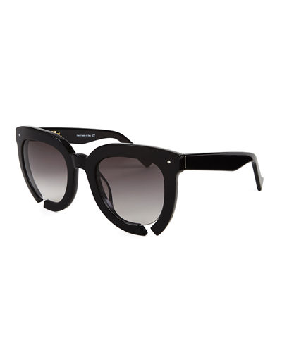 Grey Ant Incidental Notched Square Sunglasses