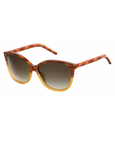 Gradient Squared Cat-Eye Sunglasses