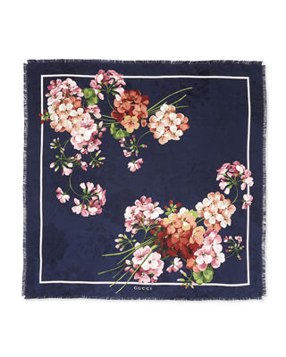 Image 2 of 2: Gerabloom Jacquard Square Silk Scarf