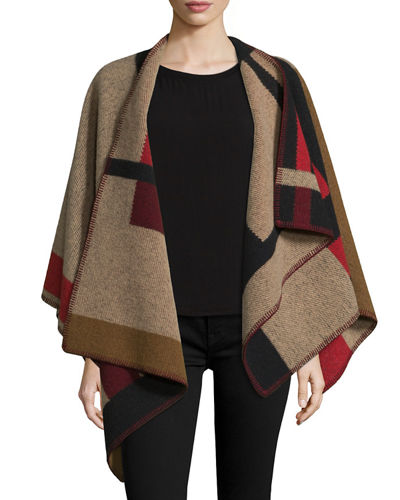 Burberry Colorblock Mega Check Cape