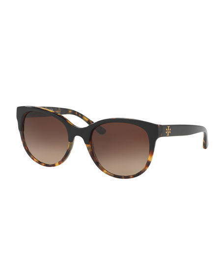Tory Burch Square Two-Tone Sunglasses