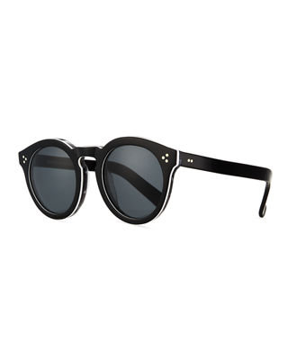 Illesteva Leonard Round Mirrored Sunglasses