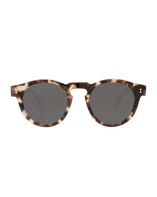 Image 2 of 3: Leonard Round Mirrored Sunglasses