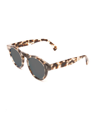 Image 1 of 3: Leonard Round Mirrored Sunglasses