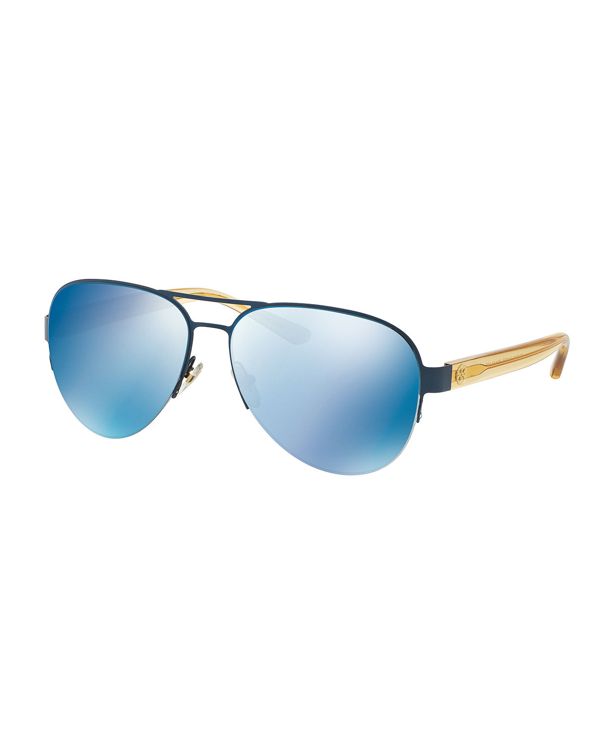 Mirrored Iridescent Aviator Sunglasses