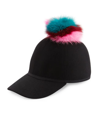 Sass Single-Pom Wool Felt Baseball Cap