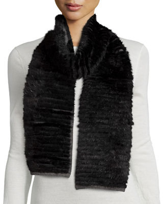 Image 1 of 4: Layered Fur Scarf