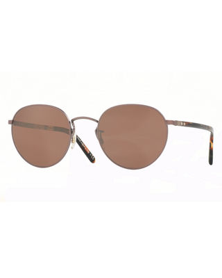 Oliver Peoples Hassett Mirrored Round Sunglasses